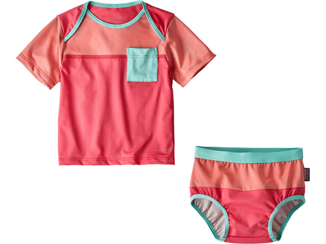 Patagonia Little Sol Swim Set Infants Sierra Pink